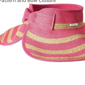 San Diego Hat Co Roll Up Striped Visor NWOT